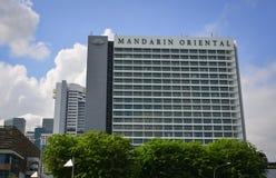 在小游艇船坞海湾,新加坡的现代大厦 库存照片