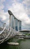 在小游艇船坞海湾,新加坡的现代大厦 免版税库存照片