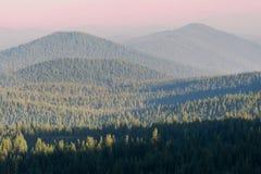 在小瀑布山的森林火灾阴霾 图库摄影