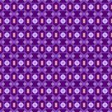 在小点的无缝的样式 仿照对黑暗的紫色背景的圆点紫罗兰样式 可耕的 皇族释放例证