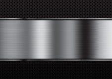 在小点背景的抽象铝背景 免版税库存照片