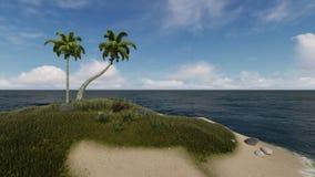 在小热带海岛图3的晴天 库存例证