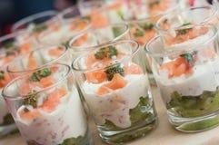 在小的玻璃的开胃菜 免版税库存照片