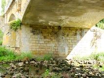 在小的Panew河的桥梁在Turawa 库存照片