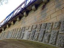 在小的Panew河的桥梁在Turawa 图库摄影