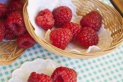 在小篮子的莓 库存照片