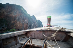 在小船在安达曼海 免版税库存照片