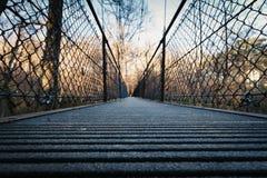 在小船桥日好的9月暂挂水之下 库存图片