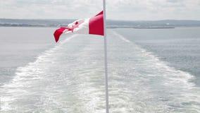 在小船的加拿大旗子 股票视频