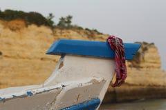 在小船的方巾 免版税库存照片