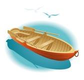 在小船的水结构 免版税库存照片