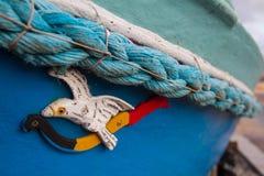 在小船的细节 免版税库存照片