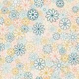 在小花的逗人喜爱的花卉样式 Ditsy印刷品 主题驱散了任意 无缝的纹理 烦恼的典雅的模板 免版税库存照片