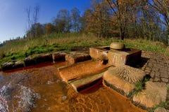 在小西部漂泊温泉镇Frantiskovy Lazne Franzensbad在秋天-捷克附近的自然保护区Soos 免版税图库摄影