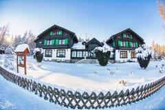 在小西部漂泊温泉镇Marianske Lazne Marienbad -捷克附近的被保存的自然区域Kladska 免版税库存照片