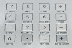 在小配件的金属按钮 免版税库存照片