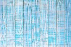 在小野鸭或绿松石颜色绘的老木纹理 浅兰 库存图片