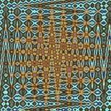 在小野鸭背景的抽象框架之字形 库存照片
