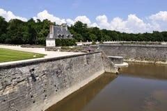 在尚翁索附近村庄的CHENONCEAU卢瓦尔河流域城堡  库存照片