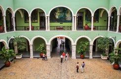 在尤加坦里面政府宫殿,梅里达,尤加坦,墨西哥 免版税库存图片