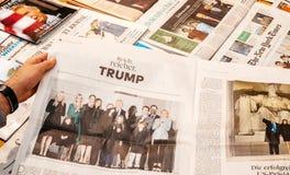 在就职典礼的唐纳德・川普家庭 免版税库存图片