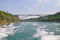 在尼亚加拉河的一座桥梁 免版税库存照片