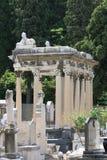 在尼斯城堡Cimetery,法国的坟墓 免版税库存照片
