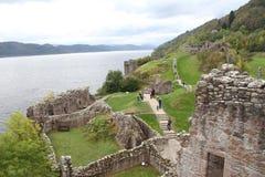 在尼斯湖的Urquhart城堡 库存图片