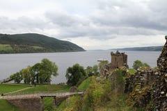 在尼斯湖的Urquhart城堡 免版税库存图片