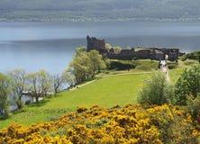 在尼斯湖,苏格兰的Urquhart城堡 免版税图库摄影