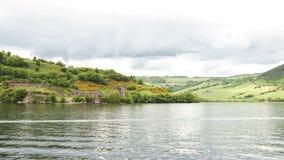在尼斯湖,苏格兰的Urquhart城堡 库存照片