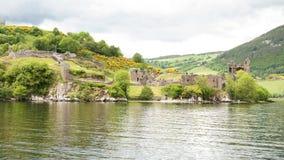 在尼斯湖,苏格兰的Urquhart城堡 免版税库存图片