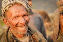 在尼泊尔供以人员视域 免版税图库摄影