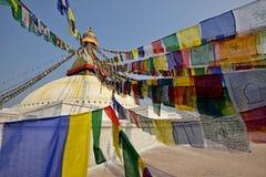 Boudhanath佛教徒stupa 免版税库存图片