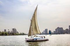 在尼罗的风船在开罗在埃及 免版税图库摄影