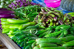 在局部市场上的蔬菜 库存照片