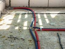 在屋子里水管设施 免版税库存图片