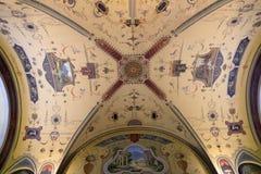 在屋子里面装饰仿照19世纪样式 图库摄影