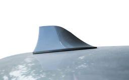 在屋顶形状的天线灰色 免版税库存图片