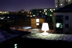 在屋顶的光 库存照片