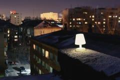 在屋顶的光 库存图片