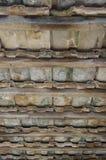在屋顶的内部瓦片修造在Chiangmai 图库摄影