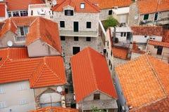在屋顶的看法 免版税库存照片