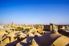 在屋顶的看法kashan在伊朗 免版税库存照片