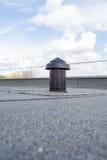 在屋顶的透气 免版税库存照片