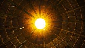 在屋顶顶部的光 库存图片