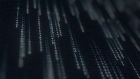 在屏幕上的闪动的计算机标志 IT相关loopable行动背景 股票视频