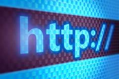 在屏幕的HTTP文本 免版税库存图片