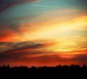 在展望期的美好的日落 图库摄影