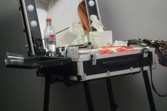 在展示期间, Intercharm秋天莫斯科XXI国际香料厂和化妆用品陈列制表脸 免版税库存照片